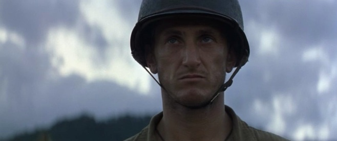 "Sean Penn in ""The Thin Red Line"""