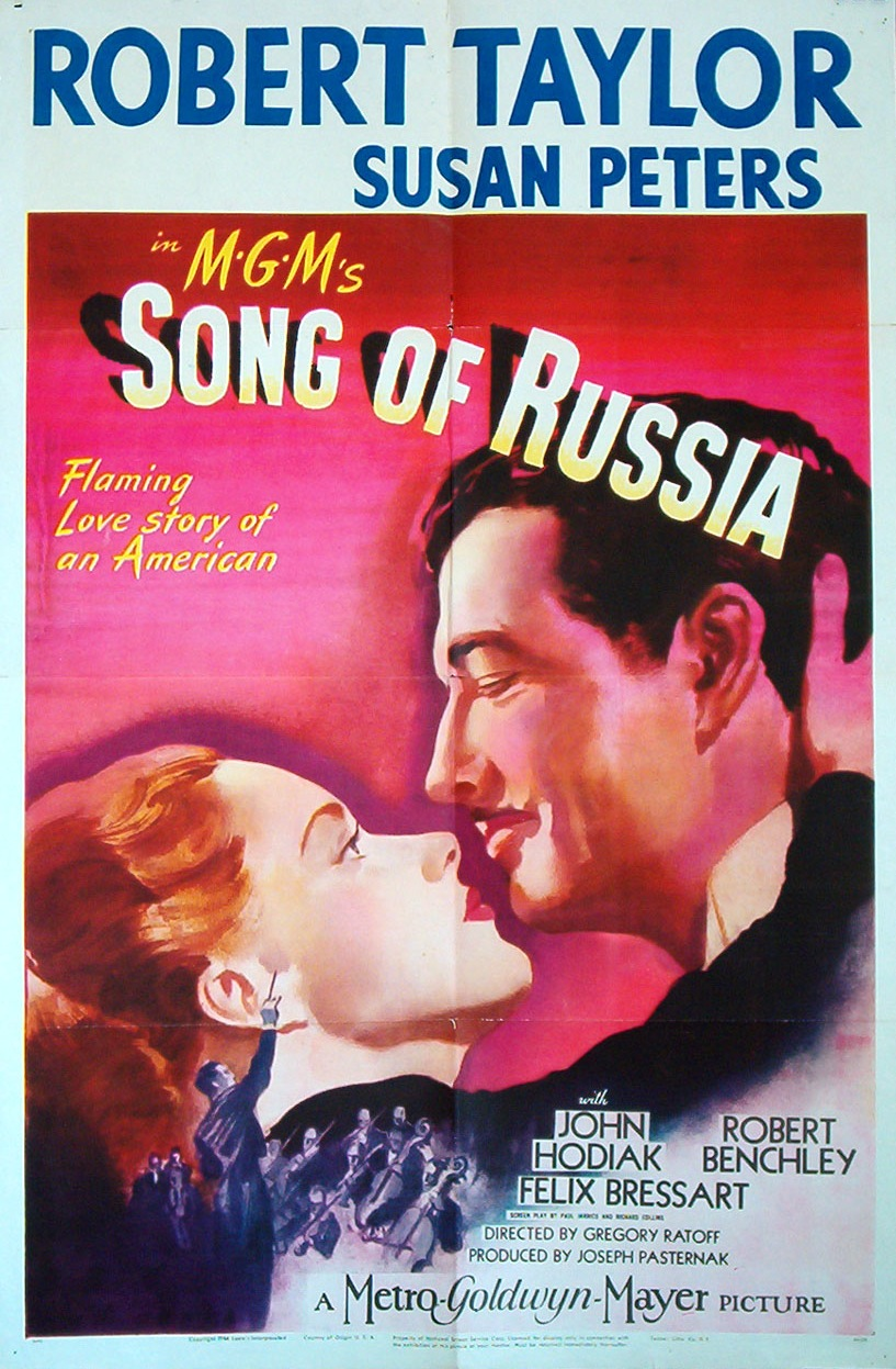 "Poster for the films ""Song of Russia"" and ""The Red Menace"""