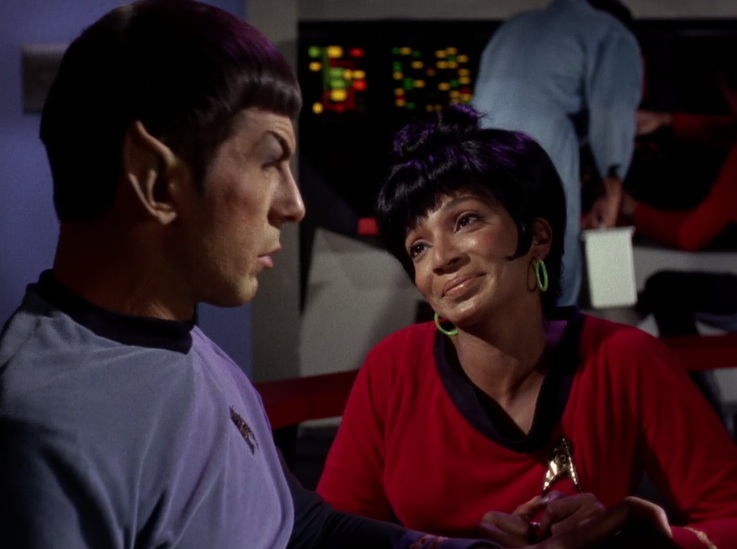 Spock, Uhura, in Man Trap