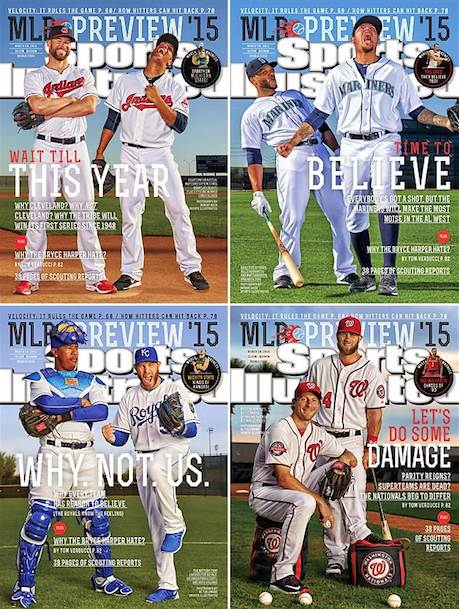 Sports Illustrated: four covers from 2015 Baseball Preview issue