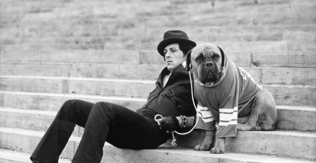 "Sylvester Stallone and Butkus in 1976 ""Rocky"""