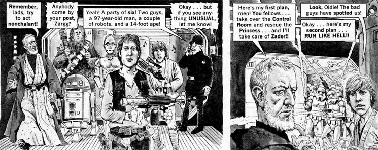 MAD magazine's STAR WARS parody