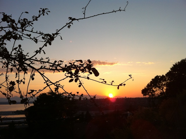 Sunset over Puget Sound, July 14, 2012