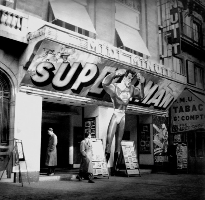 Superman in Paris in 1948