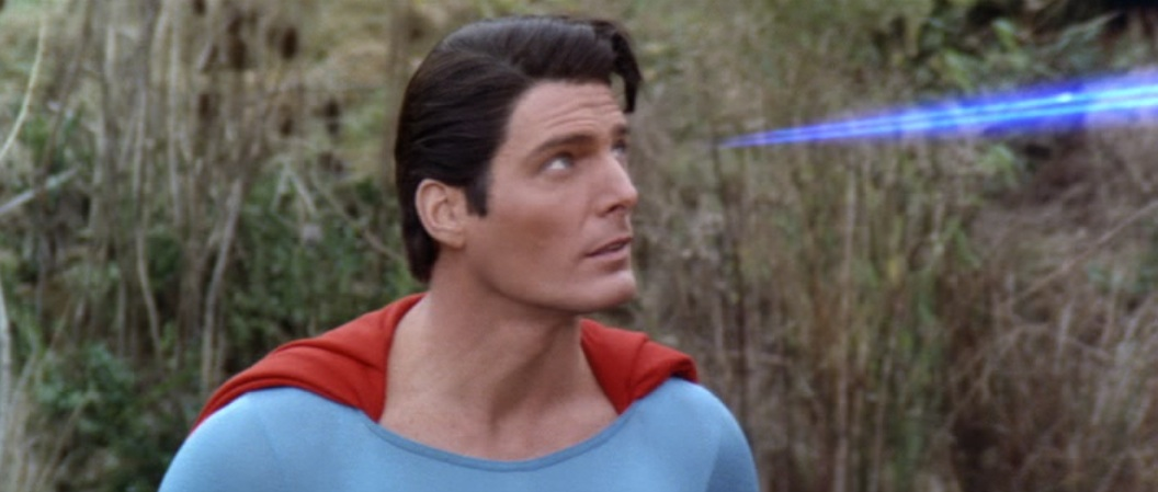 "The blue eyebeams of Superman in ""Superman IV: The Quest for Peace"" (1987)"