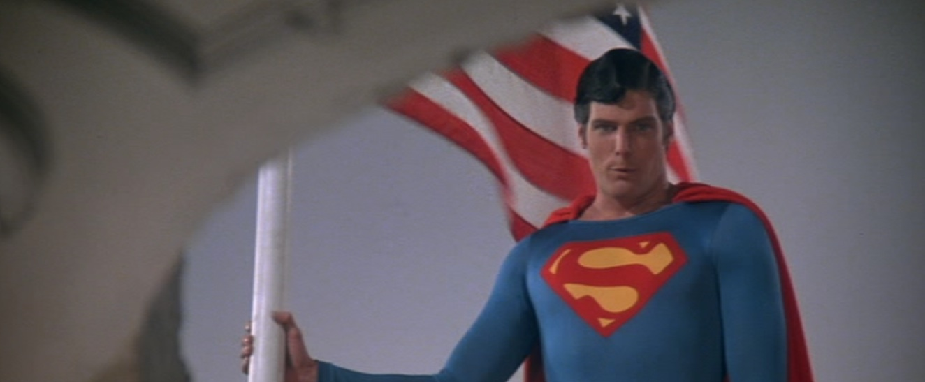 "Superman and the American flag in ""Superman II"""