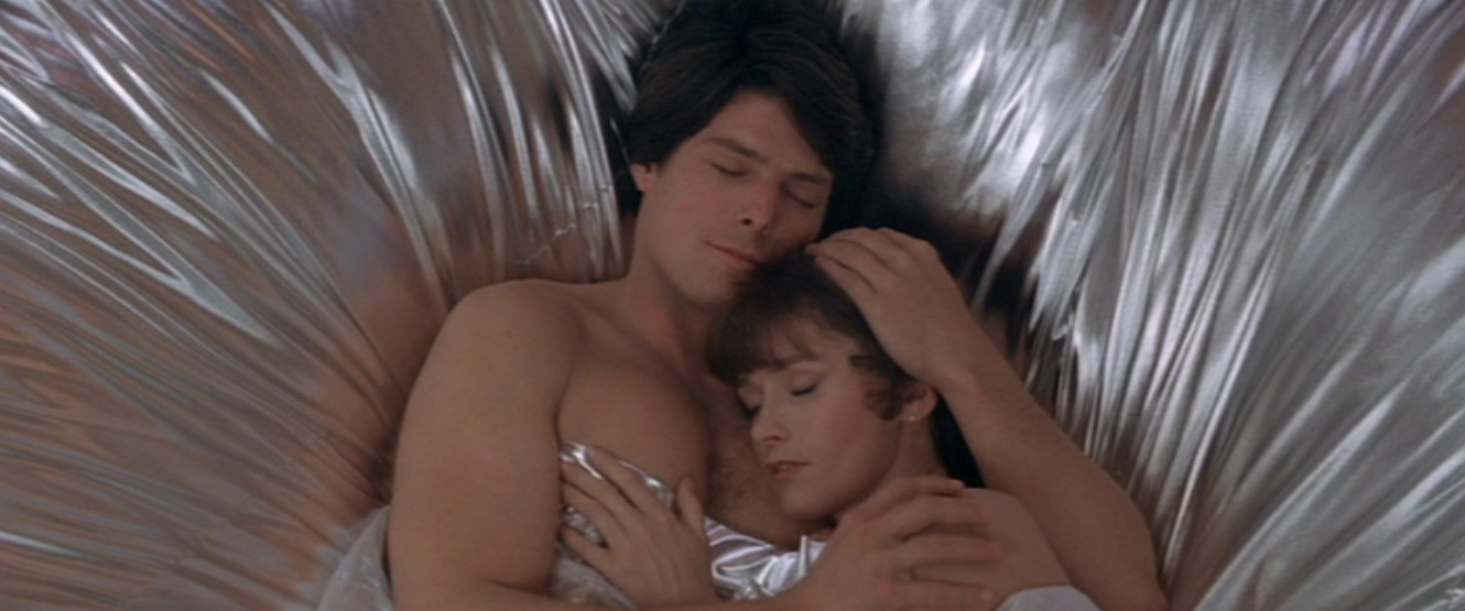 Superman and Lois in Andy Gibb's bed