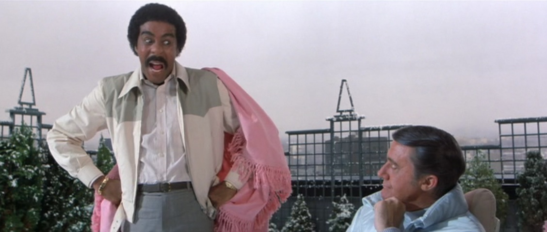 Richard Pryor, emoting, in Superman III