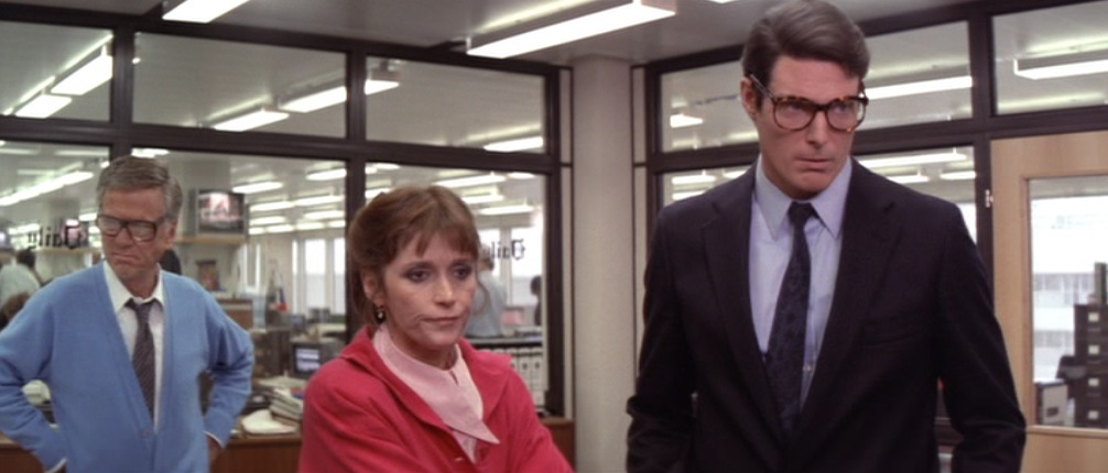"Perry White and Lois Lane looking old in ""Superman IV: The Quest for Peace"""