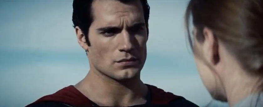 "Superman looking at Lois in 2013's ""Man of Steel"""
