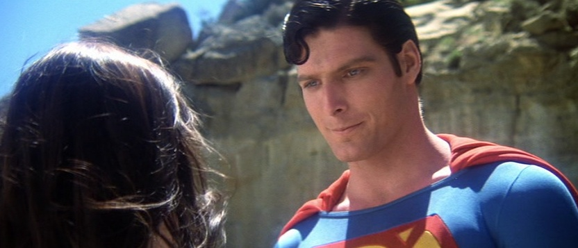 "Superman looking at Lois in 1978's ""Superman"""