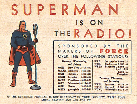 Superman on the radio, episode 1