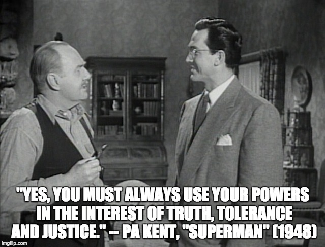 Truth, Tolerance and Justice: Superman 1948