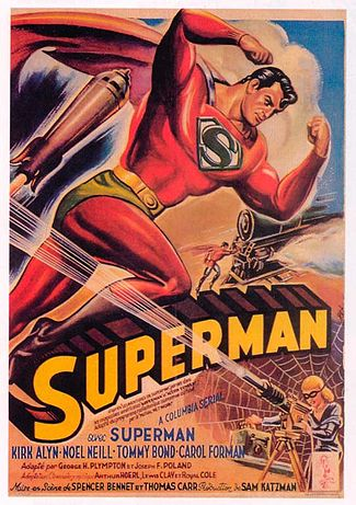 Superman 1948 serial poster Kirk Alyn