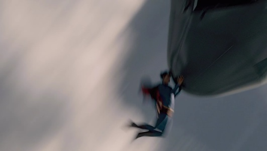 "Superman stops a plane from crashing in ""Superman Returns,"" which is remiscent of a scene from Max Fleischer's cartoon Superman 65 years earlier"