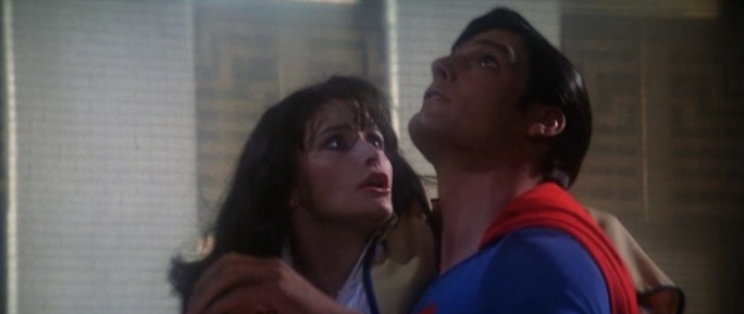 "Superman saves Lois Lane for the first time in ""Superman: The Movie"" (1978)"