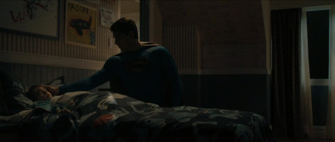 "The last son of Krypton, with his son, in ""Superman Returns"" (2006)"