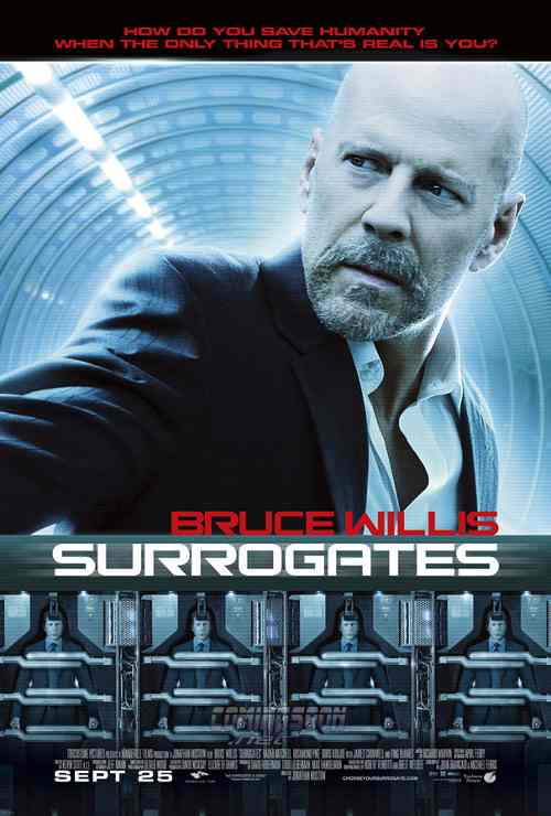 Surrogates, starring Bruce Willis