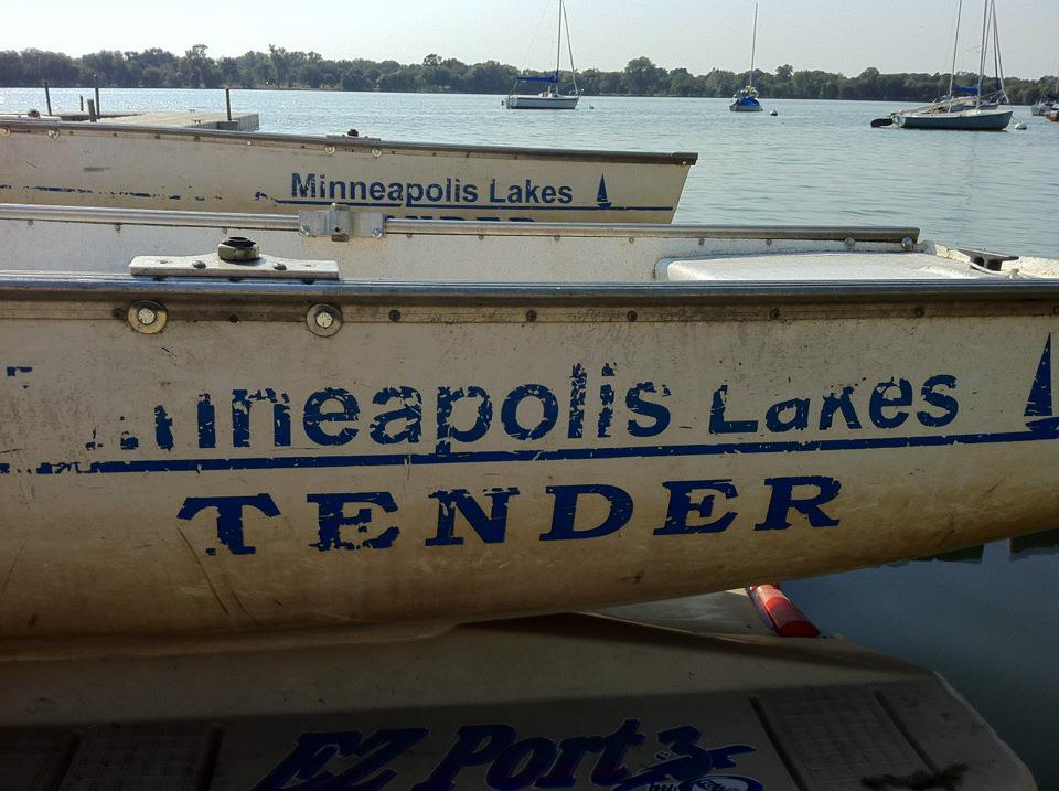 Tender boats at Lake Nokomis in Minneapolis