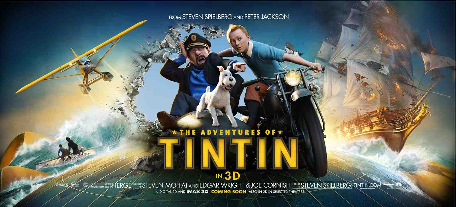 "Horizontal poster for ""The Adventures of Tin Tin"" (2011)"
