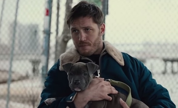 Tom Hardy and puppy in The Drop