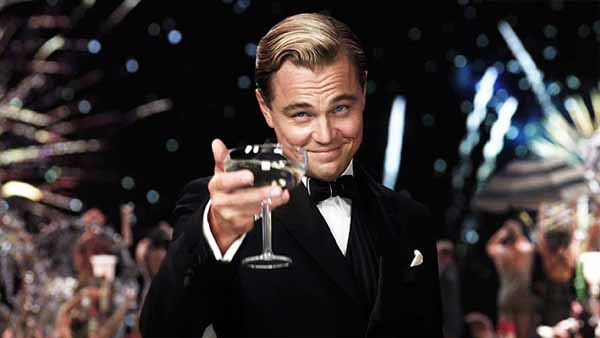 The Great Gatsby toast, with Leonardo DiCaprio
