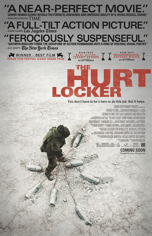 "Poster for ""The Hurt Locker"" (2009), directed by Kathryn Bigelow"