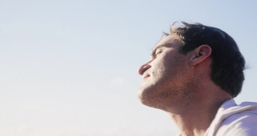 "Joaquin Phoenix, turning his face toward the sun, in Paul Thomas Anderson's ""The Master"""