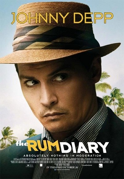 "Poster for Johnny Depp in ""The Rum Diary"" (2011)"