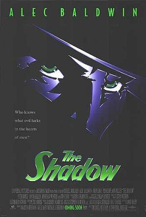"Poster for ""The Shadow"" (1994), starring Alec Baldwin"