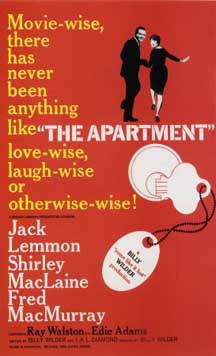 "1960 poster for Billy Wilder's ""The Apartment"""