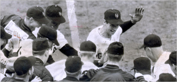 Bobby Thomson steps on home plate: October 3, 1951