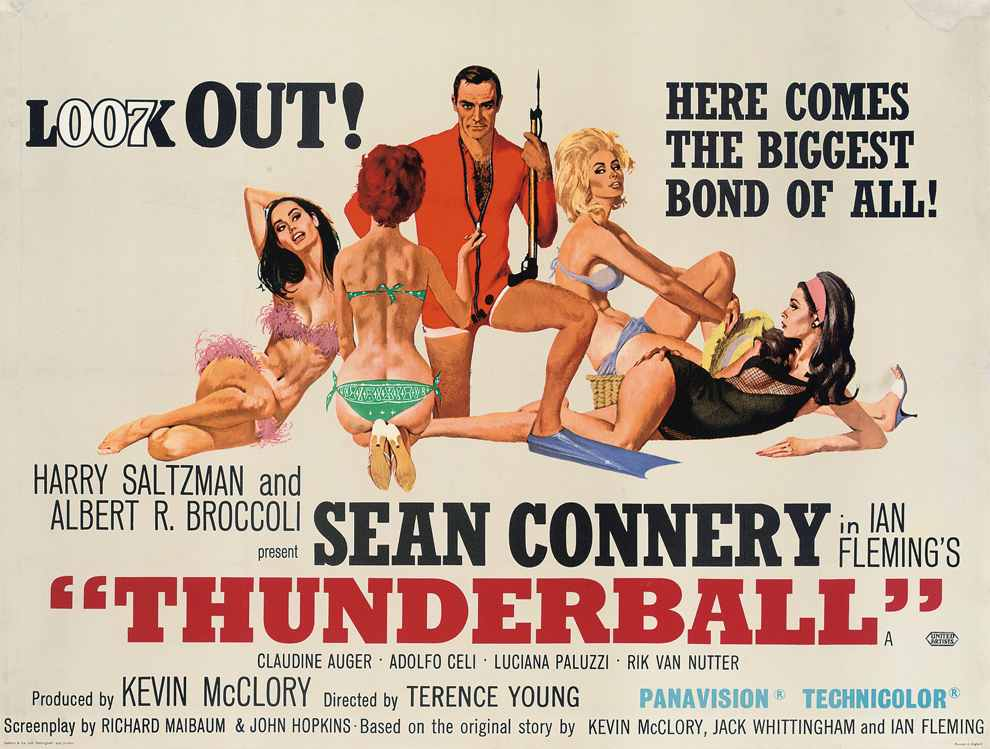 Thunderball poster James Bond