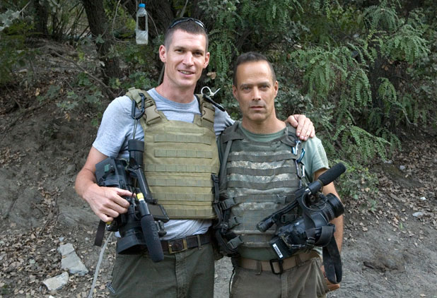 Tim Hetherington and Sebastian Junger
