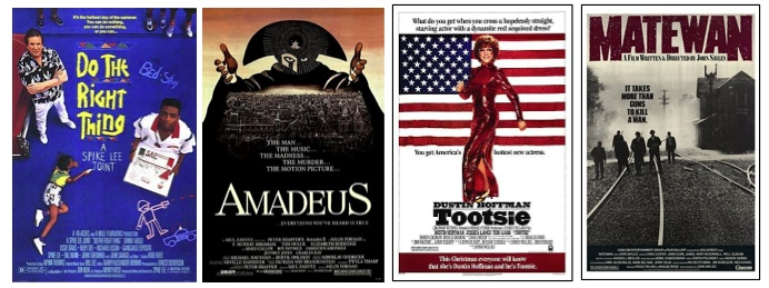 Top 10 movies of the 1980s: Do the Right Thing, Amadeus, Tootsie, Matewan