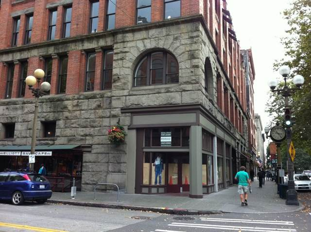 the former Elliott Bay Bookstore location in Pioneer Square, Seattle