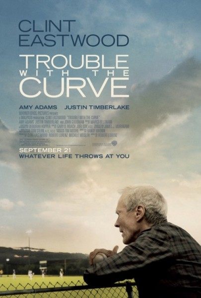"Poster for ""Trouble with the Curve"" (2012), starring Clint Eastwood"