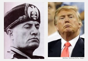 Donald Trump and Benito Mussolini