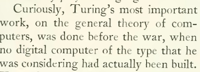 Alan Turing before the war