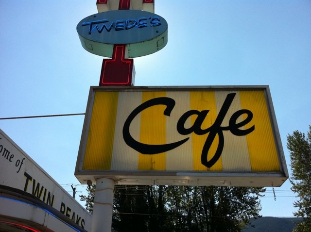 "Twede's Cafe in North Bend, Wash.: the locale for the damn good cup o' coffee and cherry pie on David Lynch's ""Twin Peaks"""