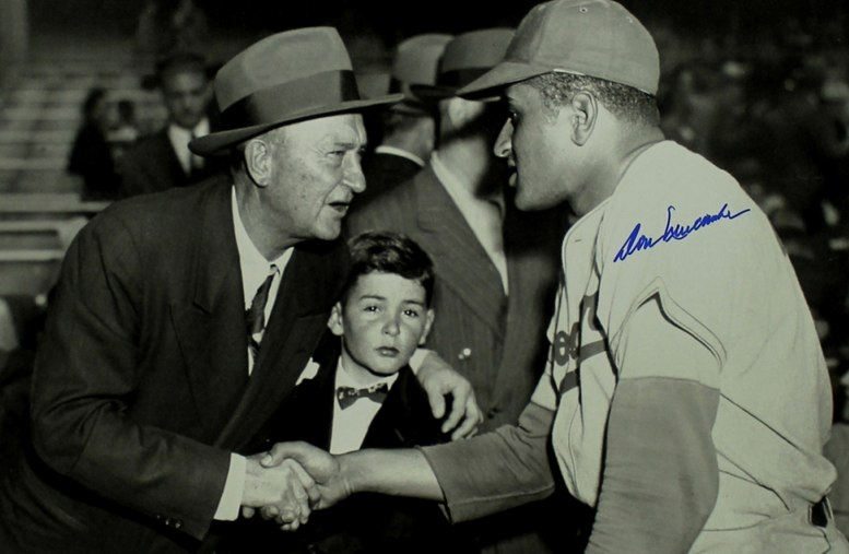 Ty Cobb and Don Newcombe
