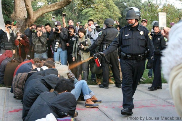 UC Davis cop pepper-spraying seated peaceful protesters