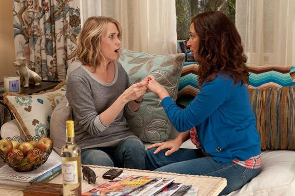 "Kristen Wiig and Maya Rudolph in a scene from ""Bridesmaids"" (2011)"