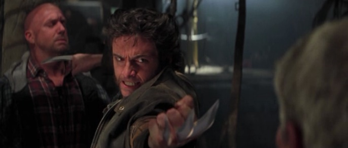 "Wolverine brings some snkt to a gunfight in ""X-Men"" (2000)"
