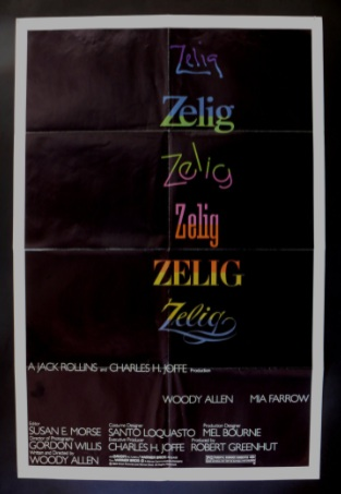 "poster for Woody Allen's ""Zelig"" (1983)"