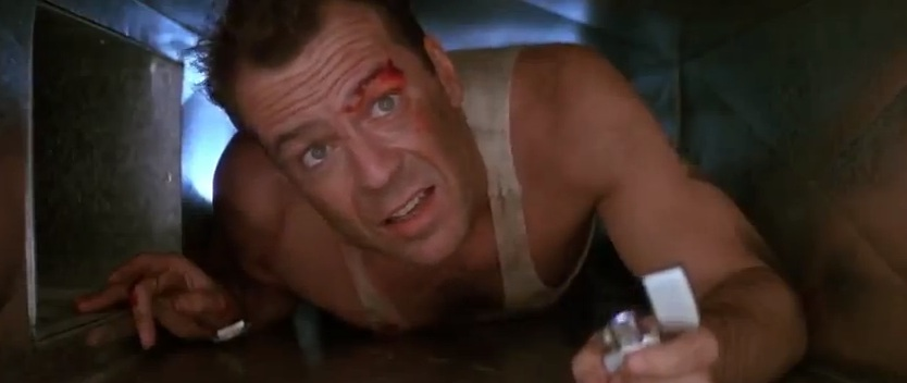 "Bruce Willis in ""Die Hard"" (1988)"