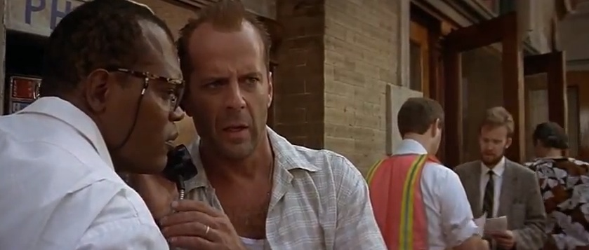 "Bruce Willis and Sam Jackson in ""Die Hard with a Vengeance"""