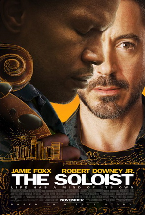 "Poster for ""The Soloist,"" starring Robert Downey, Jr."