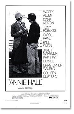 "poster for Woody Allen's ""Annie Hall"" (1977)"