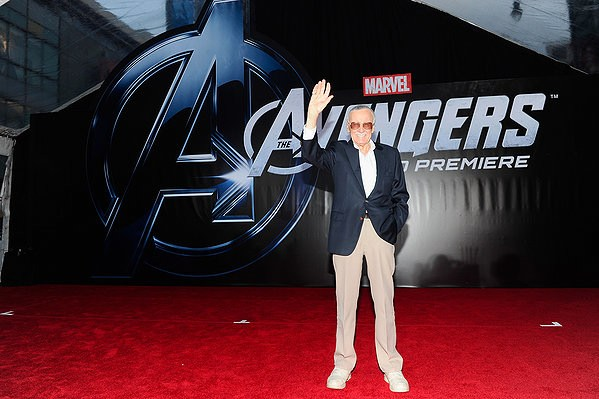 "Stan the Man Lee at the premiere of ""The Avengers"" (2012)"